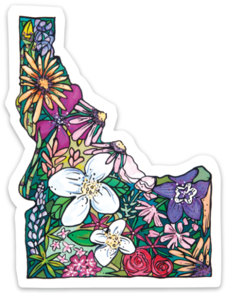 Idaho Flowers Sticker