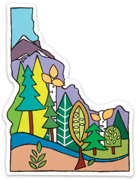 Idaho tree sticker