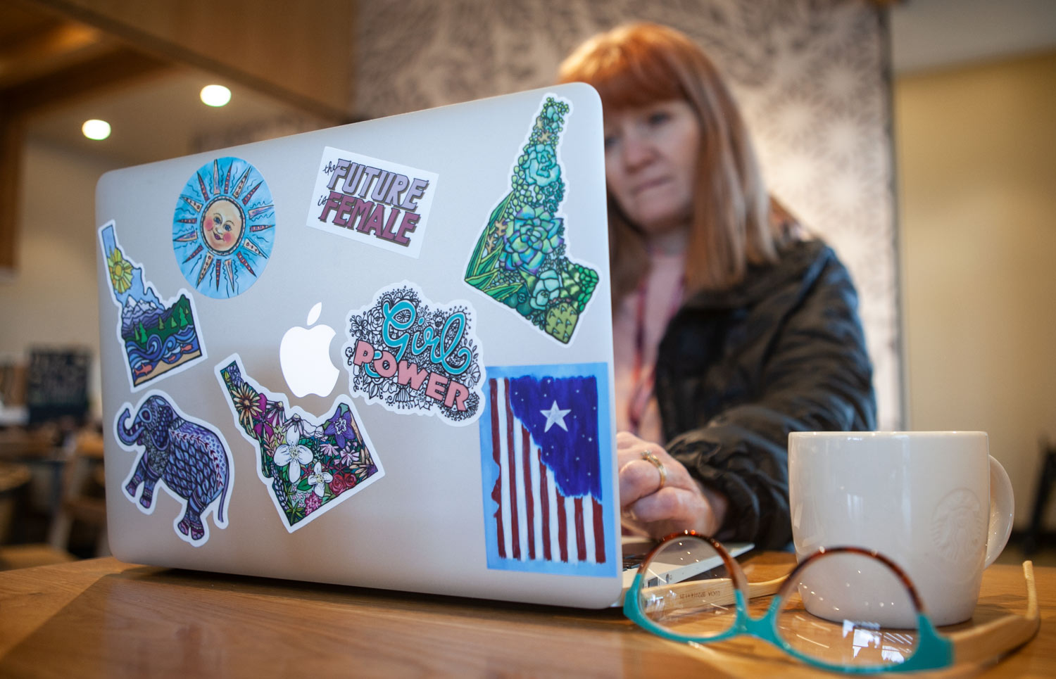 Stickers can be placed anywhere, even laptops.