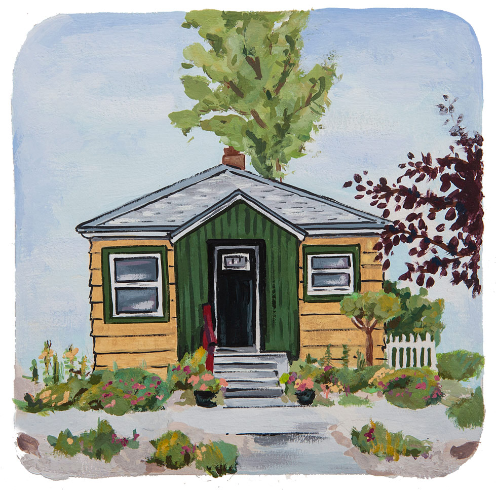 A painting of a North End home by Mary Butler.